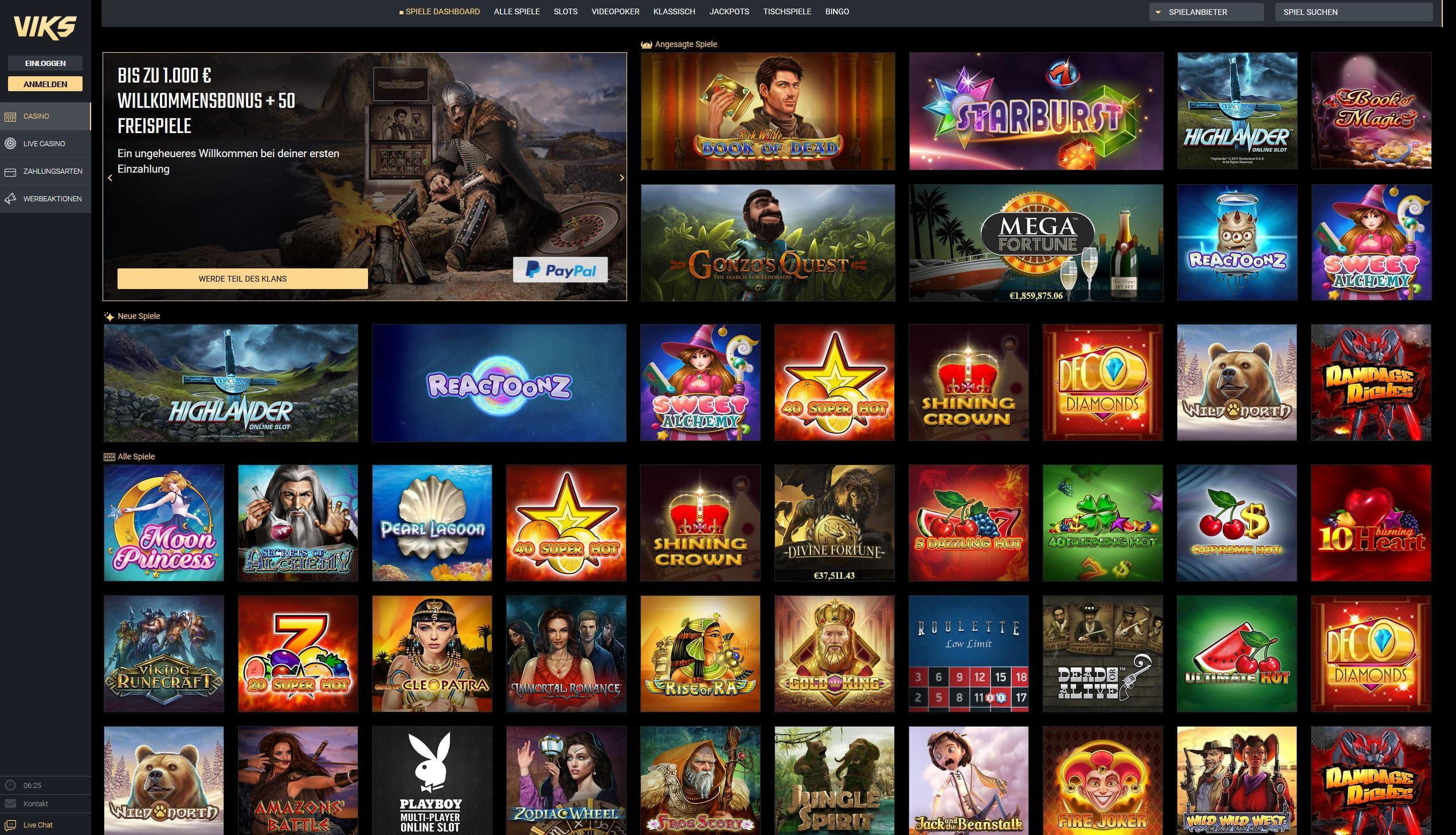 Viks online Casino Test und Erfahrung Stand 2018