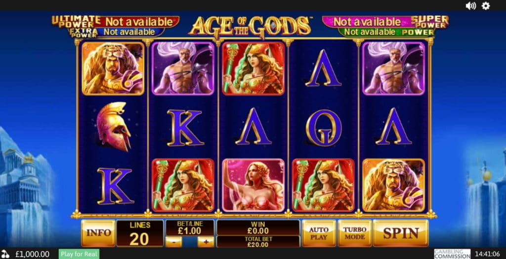 Age of the Gods Jackpot Slot