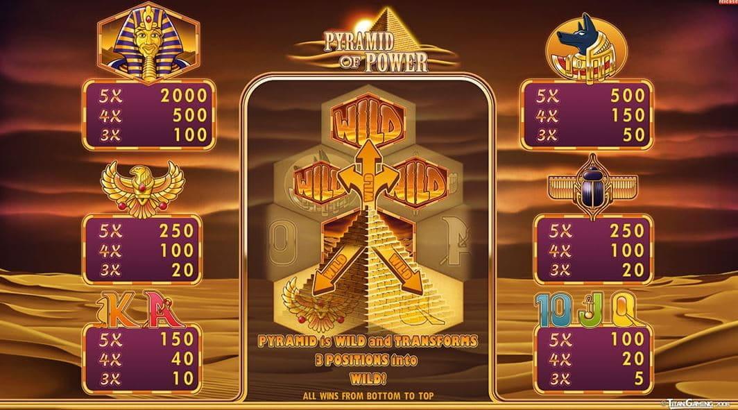 Pyramid Of Power Casino