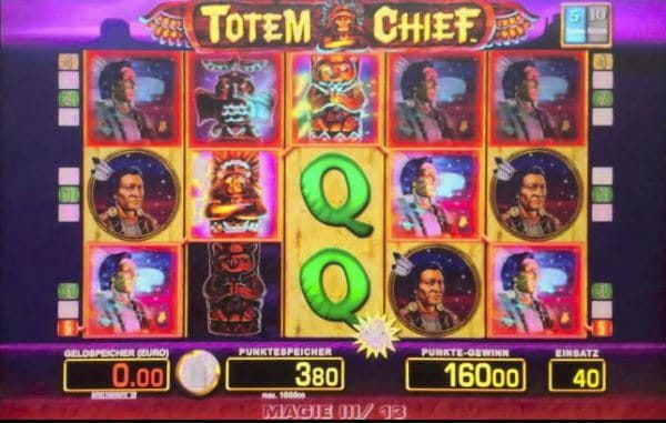 Totem Chief Paytable